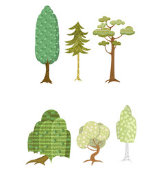 251 set of six trees vector image