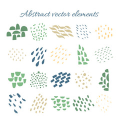 abstract brush strokes hand drawn design vector image