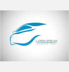 abstract car sport racing logo template vector image