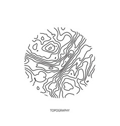 Abstract topographic map in a circle form vector