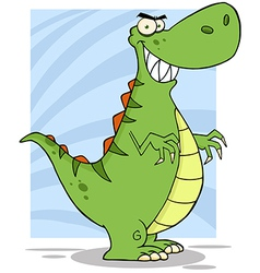 Angry Dinosaur Cartoon Mascot Character vector