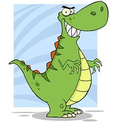 Angry dinosaur cartoon mascot character vector