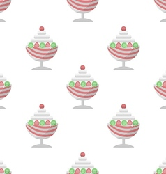 Background for ice cream dessert vector