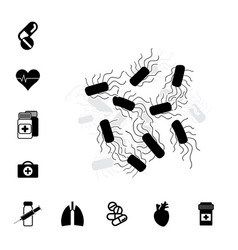 Bacteria or bacilli icon vector