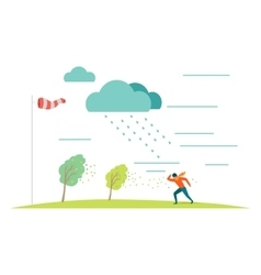 Bad Weather Concept in Flat Design vector