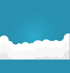 blue sky with white clouds background border of vector image