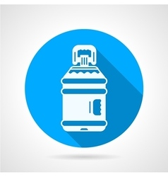 Bottle of water blue round icon vector image