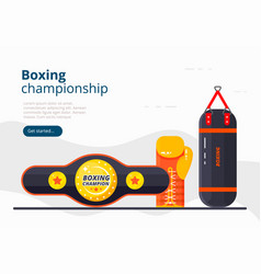boxing landing page sport banner design vector image