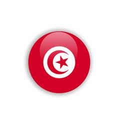 Button tunisia flag template design vector