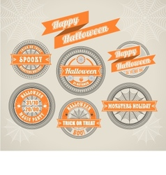 Calligraphic Design Elements Halloween vector image