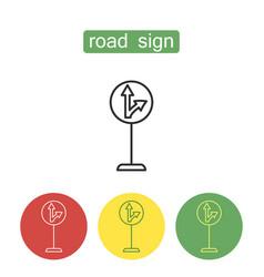 car navigation outline icons set vector image
