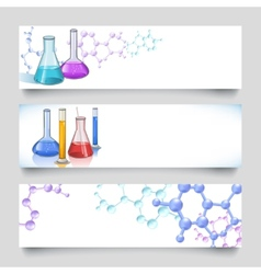 Chemical laboratory banners vector image