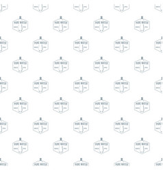 clean pure water pattern seamless vector image
