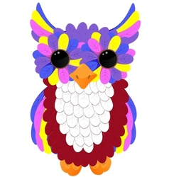 colorful owlet vector image