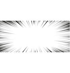 comic book action lines speed lines manga frame vector image