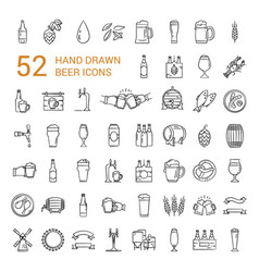Craft beer pixel-perfect icons in the modern style vector