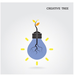 Creative and knowledge tree concept vector image