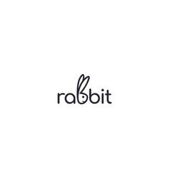 Creative and modern cute rabbit for animal cartoon vector