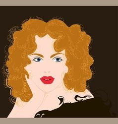 Curly girl vector