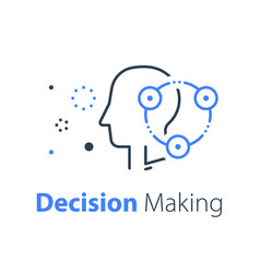 Decision making neurology or behavior concept vector