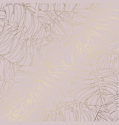 decorative background with tropical leaves and vector image