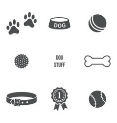 Dog stuff set vector