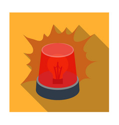 emergency rotating beacon light icon in flat style vector image