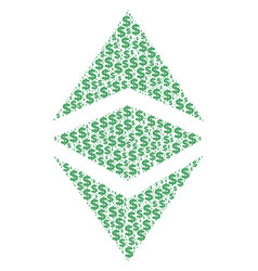 ethereum classic composition of dollar and dots vector image
