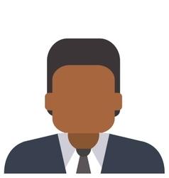 faceless man portrait icon vector image