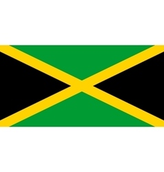 Flag of Jamaica in correct proportions and colors vector image