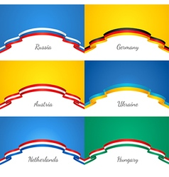 flags background Set vector image