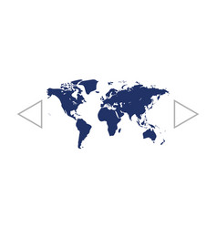 flat paper cut style icon of world map vector image
