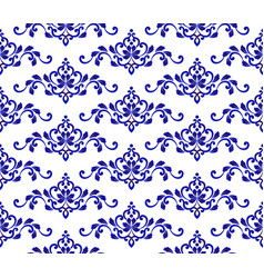 floral blue pattern vector image