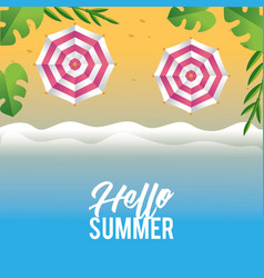 funny vacation in the tropical summer season vector image