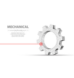 gears abstract 3d wireframe single laser vector image