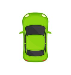 green sedan car top view city vehicle transport vector image