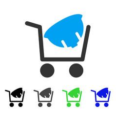 Helmet shopping flat icon vector