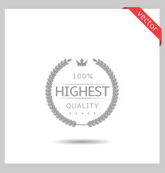 highest quality icon vector image