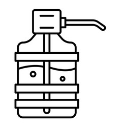 Home water dispenser icon outline style vector