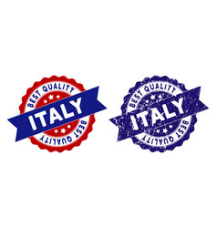 italy best quality stamp with dirty effect vector image