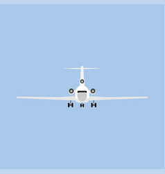 Jetliner tourism transportation isolated flat vector