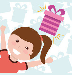 kids gift box image vector image