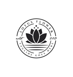 lotus flower emblem logo vector image