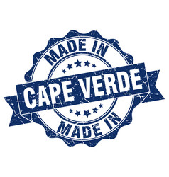 Made in cape verde round seal vector
