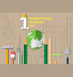 may 1st labor day background vector image
