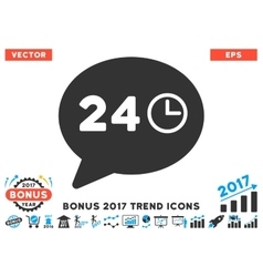 Message Hours Flat Icon With 2017 Bonus Trend vector