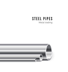 metal pipe manufacturing group new iron tubes vector image