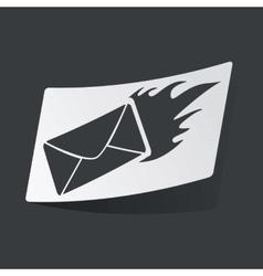 Monochrome burning letter sticker vector
