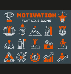 motivation concept chart icon business strategy vector image