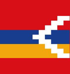 National flag artsakh vector